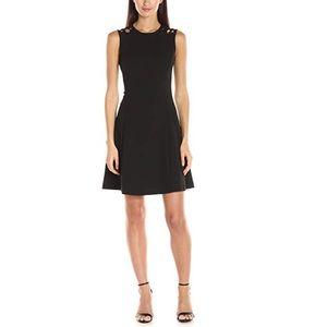 New Calvin Klein Black Fit n Flare Dress